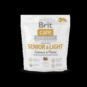 Karma sucha Brit Care Grain free Senior & Light Salmon Potato 1 kg