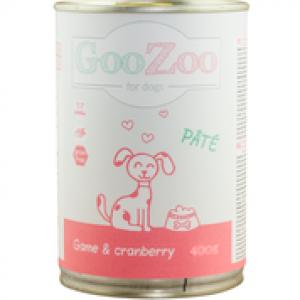 Karma GooZoo Pate pasztet z dziczyzną i żurawiną 400 g